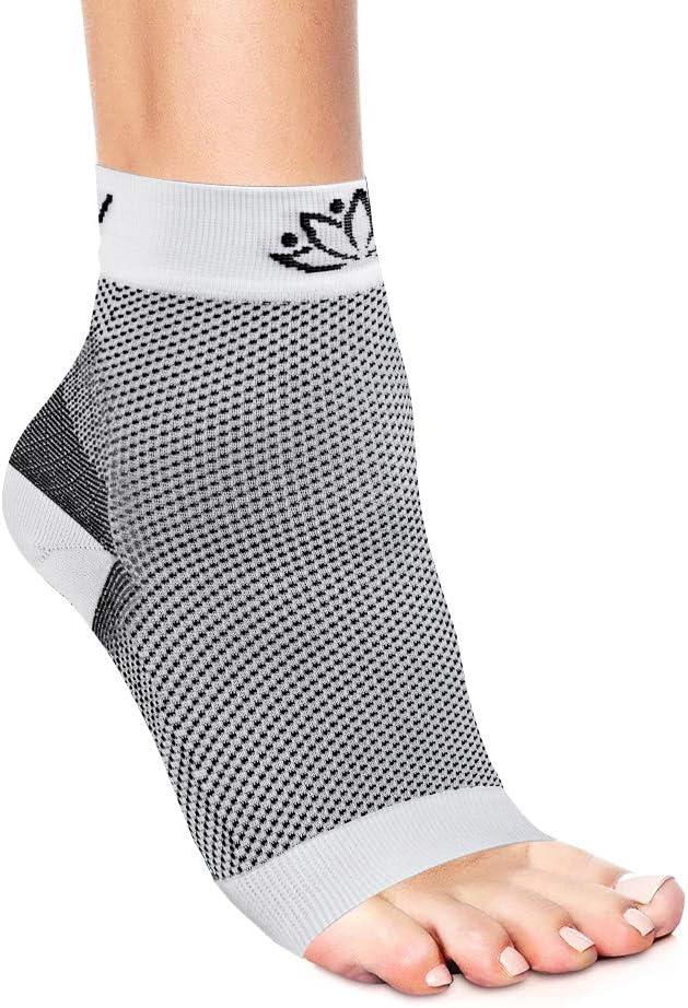 Ankle Compression Socks for Achilles Tendinitis Foot Sleeve for Women /& Men Beige S//M Toeless Socks Arch Support Socks for Foot Pain Relief /& Plantar Fasciitis Serenily Plantar Fasciitis Socks