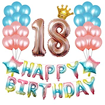 Zaeel Globos Cumpleaños Happy Birthday, Suministros y ...