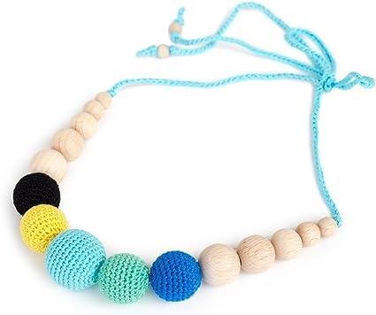 Babywering Breastfeeding beads Nursing necklace Aqua Blue Teething Necklace