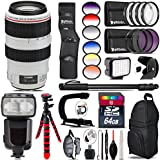 Canon EF 70-300mm IS USM Lens + Pro Flash + 6PC Graduated Filter Set + LED Kit + Stabilizing Handle + UV-CPL-FLD Filters + Macro Filter Kit + 72 Monopod + Lens Hood + 64GB - International Version
