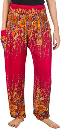 Lofbaz Mujer Floral Impreso Har/én Pantalones