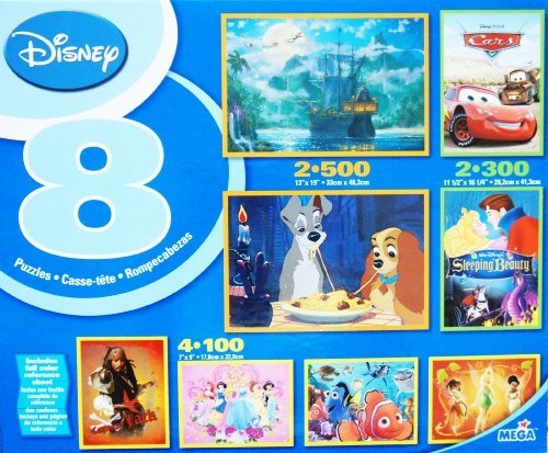Disney 8 In 1 Multi Pack Boxed Puzzles Featuring Lady and the Tramp (Belle Notte) and Other Puzzles ()