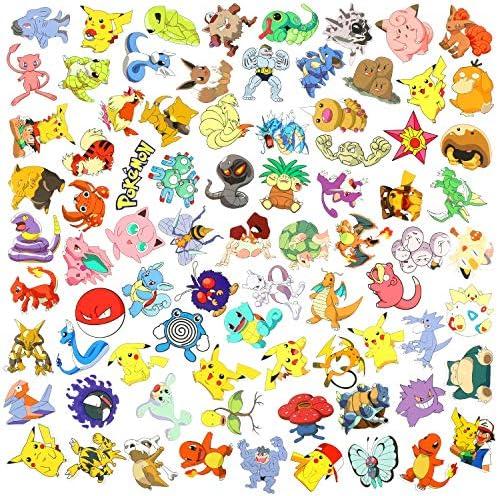 100pcs Pokemon Aufkleber Stickers Wasserdicht f/ür Wasserflaschen Laptop Skateboard Auto Motorrad Fahrrad PS4 Koffer Snowboard iPhone