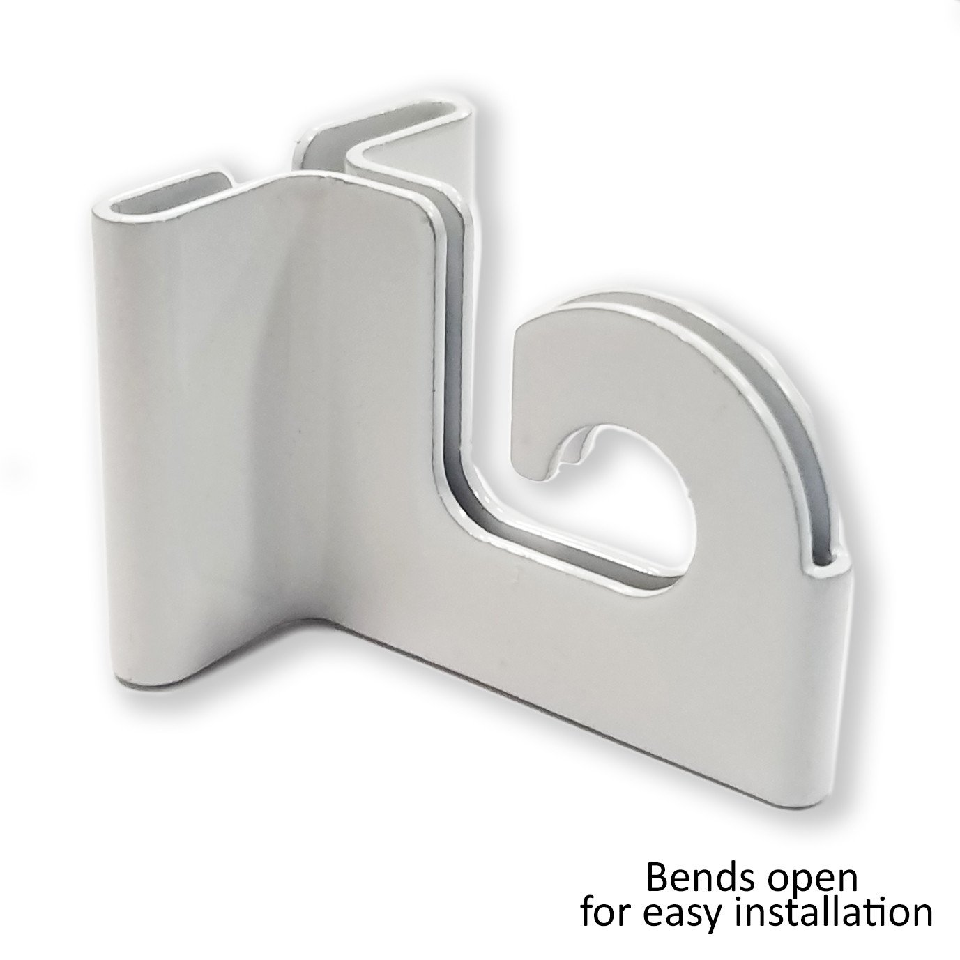 Extra Heavy Duty White Aluminum Drop Ceiling Hooks, One Piece Ceiling Grid Clips - 20 Pack