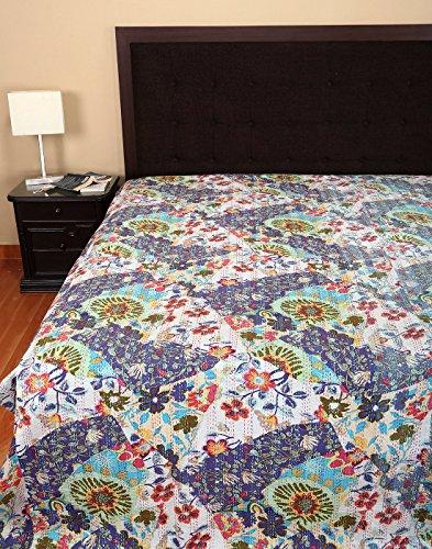 Colcha de cama de lujo s banas impreso kantha cama doble - Colchas de lujo ...
