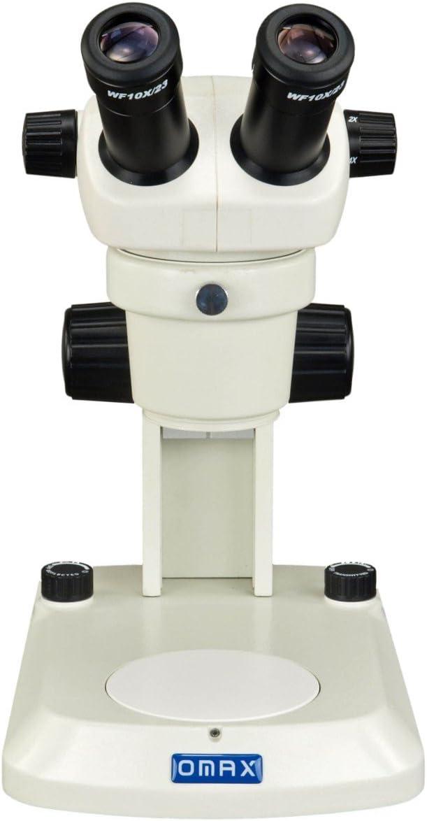 OMAX Binocular Stereo Microscope 20X-40X with Dual LED Lights and USB Camera