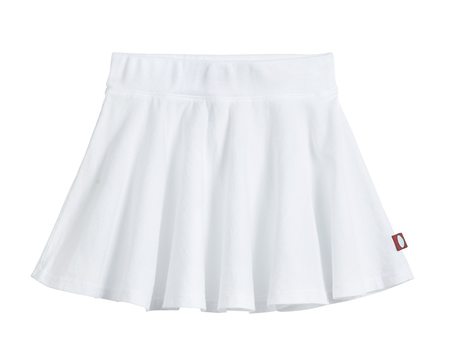 City Threads Big Girls' Cotton Twirly Skirt Perfect For Sensitive Skin/SPD/Sensory Friendly For School or Play Fall/Spring, White, Size 16
