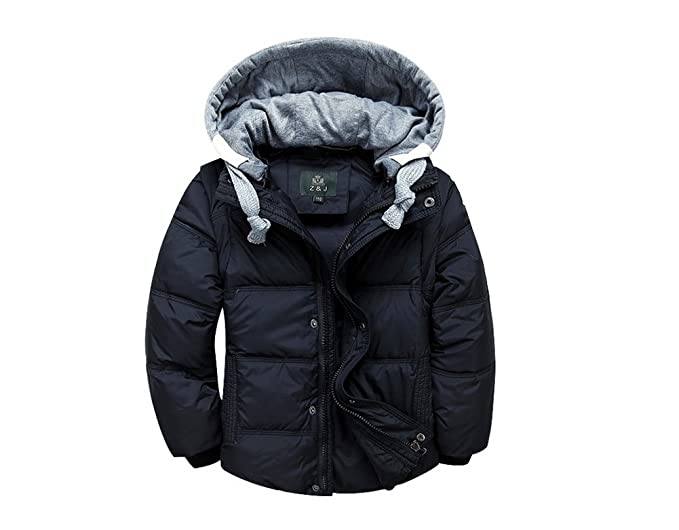 Winter Jacket for Teens Boy Removable Down Winter Jacket for Toddler Boys  Sale (3T,