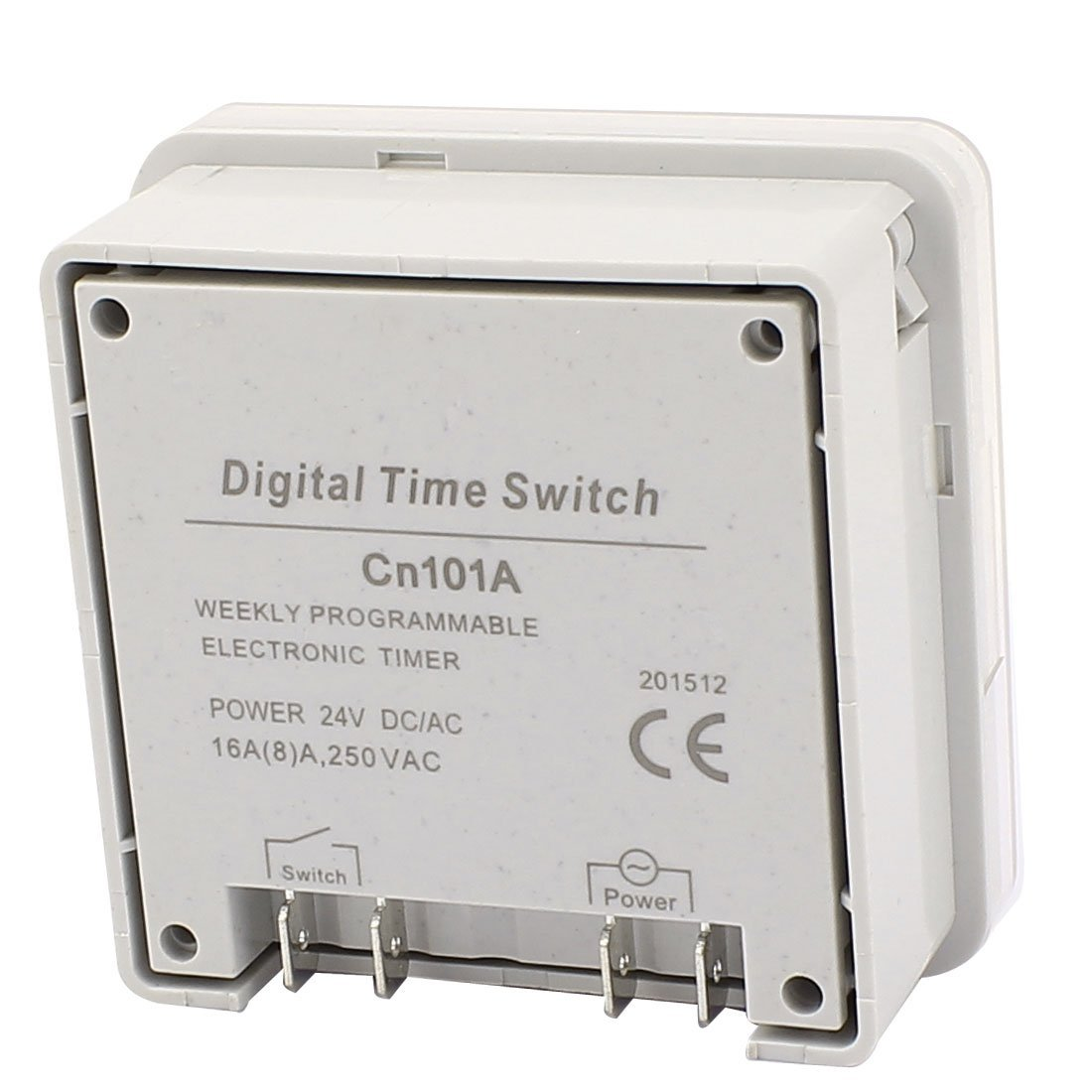 eDealMax CN101A AC/DC24V LCD Digital Power Programmable Timer Time Relay Switch
