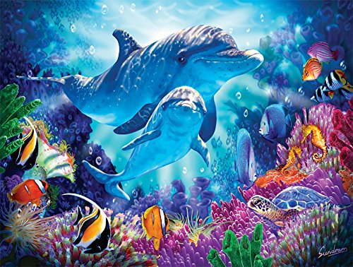 (SunsOut Dolphin Guardian 500 pc Jigsaw Puzzle)
