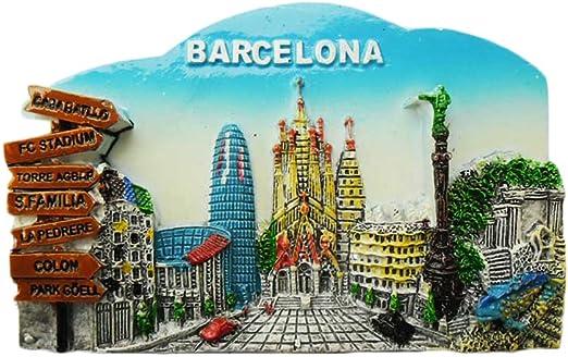WedareDai 3D Barcelona España Imán de Nevera de Viaje, Adhesivo de ...