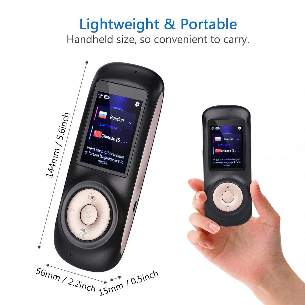 Language Translator 1# Smart Wireless Portable Translator Real Time Instant Voice Translation Support 52 Languages Perfect for Business Learning Travel