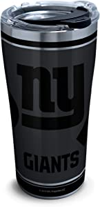 Tervis NFL 100-New York Giants Stainless Steel Insulated Tumbler with Clear and Black Hammer Lid, 20 oz, Silver