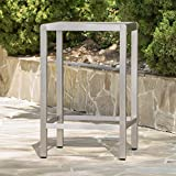 Capral Outdoor Grey Alumnimum Bar Table with Glass Top