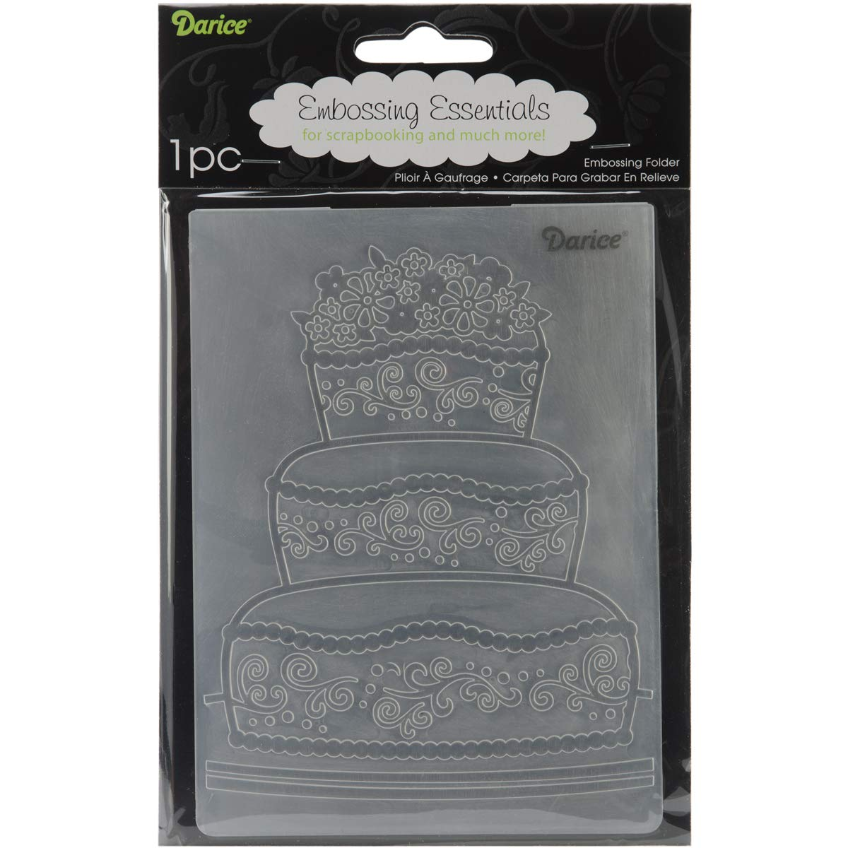 Darice Embossing Folder Fancy Cake 4.25 X 5.75 Inches (12 Pack)