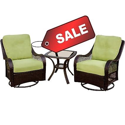Miraculous Amazon Com Efd 3Pc Patio Set Conversation 2 Seats Glider Machost Co Dining Chair Design Ideas Machostcouk