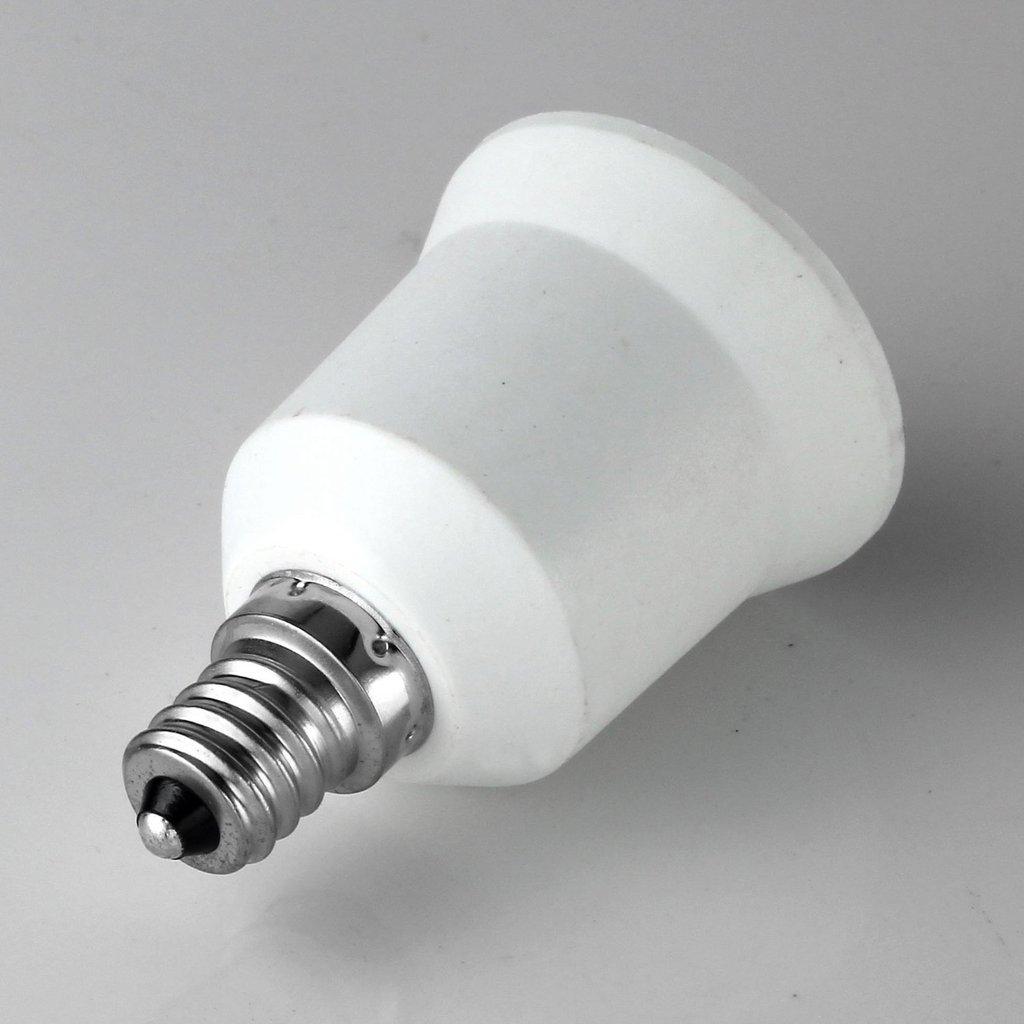 FOME Home&Kitchen 15pcs E12 to E26 / E27 Adapter Converts Chandelier Socket (E12) to Medium Socket (E26/E27)+ FOME Gift
