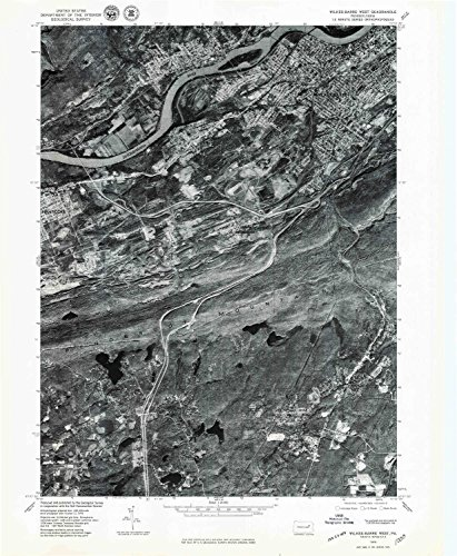Wilkes Barre West PA topo map, 1:24000 scale, 7.5 X 7.5 Minute, Historical, 1976, updated 1979, 26.7 x 21.9 IN - - Outlets Map Lee
