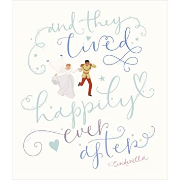 Cinderella Wedding Congratulations card Amazoncouk Office Products