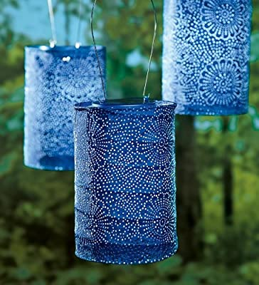 Soji Stella Solar Lantern, in Midnight Blue