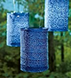 Wind & Weather LT6618-Mid Soji Stella Solar Lantern, in Midnight, Blue
