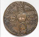1690 IE I0181 Ireland Token irish gun money rare in this grade DE PO-01