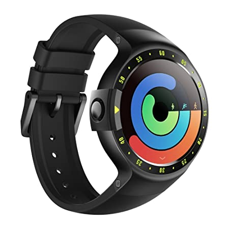 Ticwatch S Smartwatch-Knight,1.4 inch OLED Display, Android Wear 2.0,Compatible with iOS and Android, Google Assistant (Renewed)