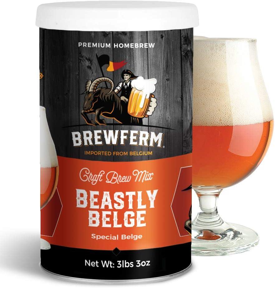 Brewferm Beastly Belge (Special Belge) Belgian Homebrew Craft Beer Mix - makes 12 liters or 3 gallons of beer