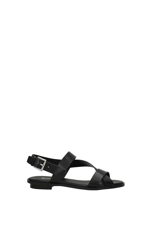 2ccc5c22a8 Amazon.com | Michael Kors Women's Mackay Black Leather Sandal 36(EU)-6(US)  Black | Shoes