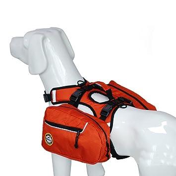 LSKCSH Large Dog Backpack Harness Reflective Adjustable Pet Saddle