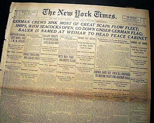 german-fleet-scuttling-scapa-flow-scotland-1918-ludwig-von-reuter-wwi-newspaper