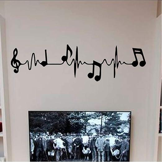 hllhpc Música Notas De Piano Electrocardiograma Creativo Arte ...