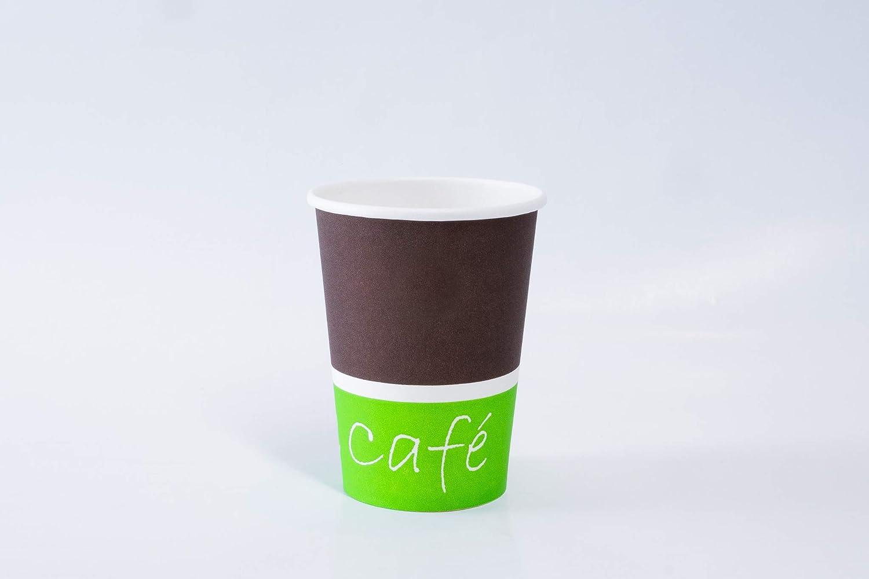 PauseCoffee1 CUPS FRANCE 500 Gobelets Carton 9oz-260ml pour caf/é /à emporter - CF17008 500, 9oz-260ml GM gobelets jetables pour Boissons Chaudes//Froides
