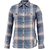 Wolverine Women's Autumn Long Sleeve Two-Sided Brushed Flannel Shirt, Pewter Plaid, Large
