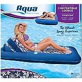 "Aqua Premiun Convertible Water Lounge, Inflatable Oversized Pool Float. Multi Position Recliner, 74"""
