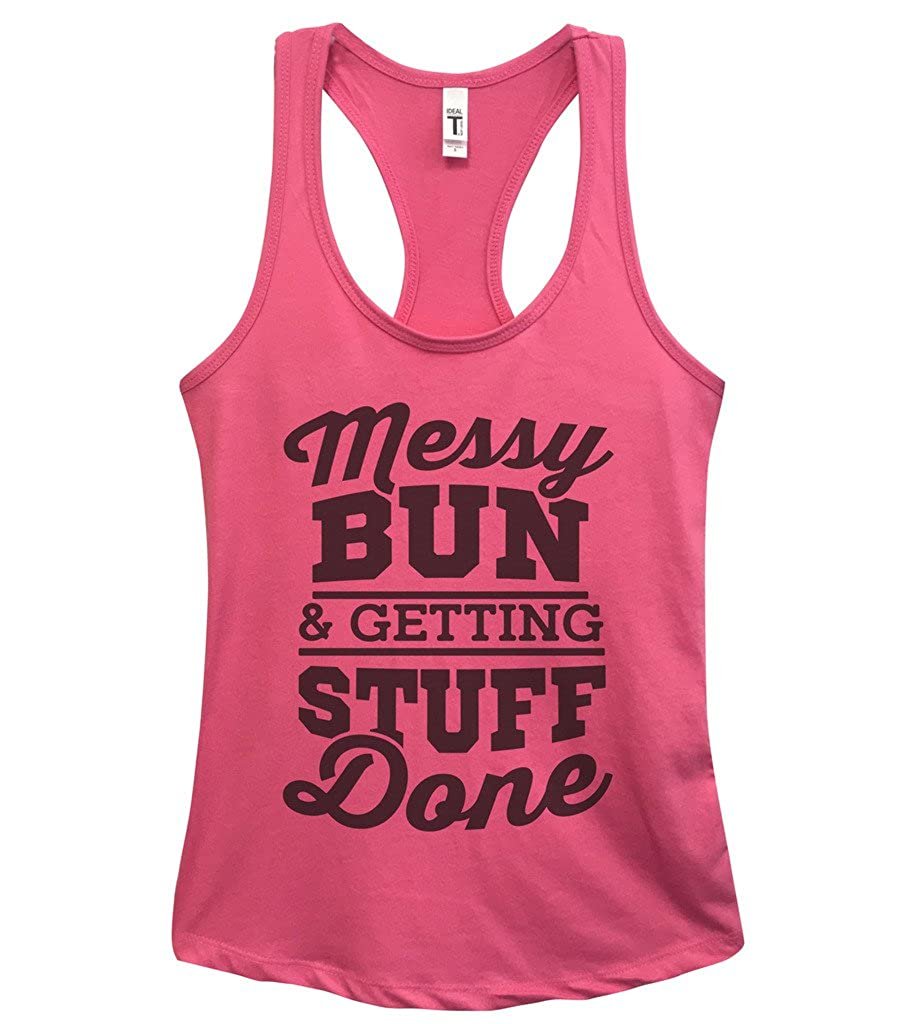 Funny Tanks Messy Bun & Getting Stuff Done - Yoga Royaltee Tank Tops
