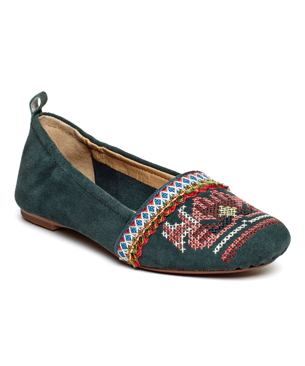 Latigo Women's Basia Leather Flat B072LY8CS3 9.5 B(M) US|Pine