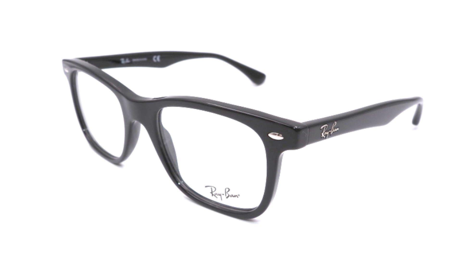 Ray-Ban Men's RX5248 Eyeglasses Shiny Black 49mm by Ray-Ban