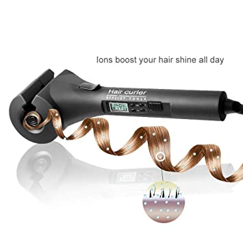 sltg rizador, Curling de hierro de cerámica de rizador de pelo con tiempo/temperatura/Curl de orientación para todos los tipos de cabello: Amazon.es: Salud ...