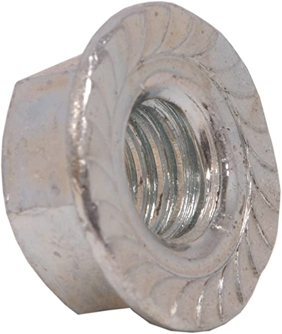 50 1//4-20 Serrated Large Flange Hex Lock Nut//Locknuts Spin//Wiz Nuts Zinc