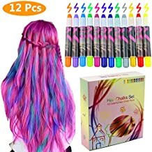 Philonext 12 Color Temporary Hair Chalk Gift Set for Kids, Colorful Hair Chalk Pens, Temporary Non-Toxic Portable Hair Coloring Chalk for Girls, Great Christmas Birthday Gifts Present for Girls
