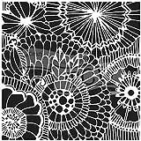 The Crafters Workshop Pochoir 4/Mini Plumes Noir//Blanc