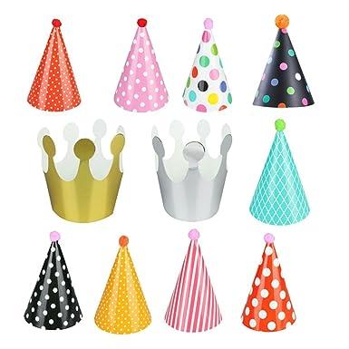 11pcs Gorros de fiesta,STRIR sombrero lindo de la fiesta de ...