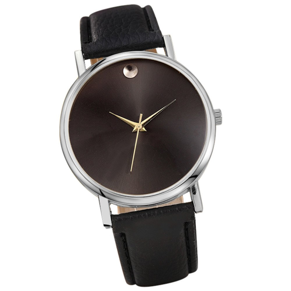 Zaidern Womens Leather Watches Unique Analog Quartz Fashion Clearance Lady Watches Female Watches on Sale Casual Wrist Watches for Women Round Dial Case Comfortable Retro Design Watch