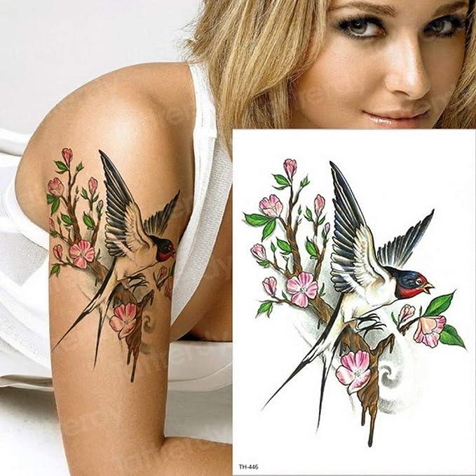 adgkitb 3 Piezas Tatuaje Temporal Parejas colibrí Tatuaje Pegatina ...