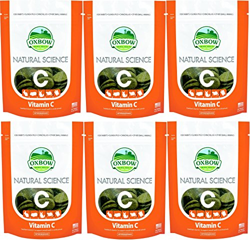 Oxbow Natural Science 60ct Vit C Supplement Little Animal Gerbil Hamster 6 PACK