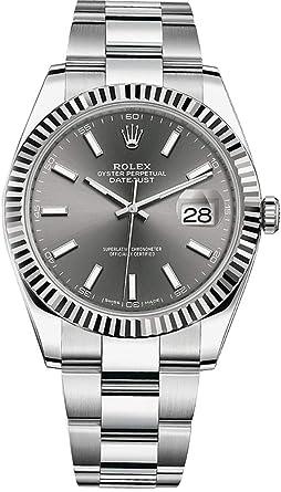 watch 46a91 e47ba Amazon   Rolex Datejust 41ダークロジウムダイヤルステンレス鋼 ...
