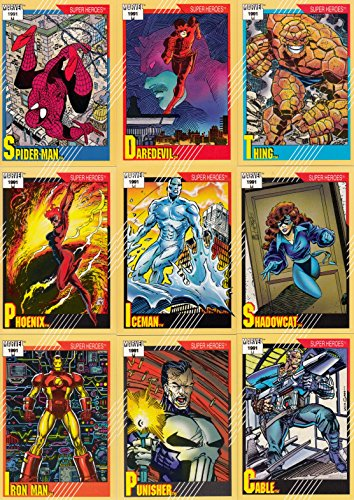 MARVEL UNIVERSE 2 1991 IMPEL COMPLETE BASE CARD SET OF 162 (Book Comic Trading Cards)