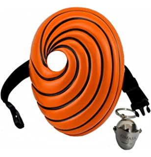 Gmasking Resin Tobi Obito Naruto Uchiha Cosplay Mask+Gmask Keychain