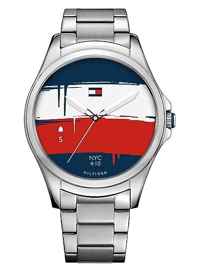 Tommy Hilfiger Reloj Hombre de Digital con Correa en Acero Inoxidable 1791405: Amazon.es: Relojes